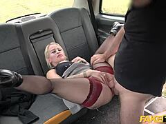 Fake taxi short natural blonde mommy buggered lusty on the backseat of taxi